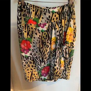 Korean  100 % Silk Skirt Size 8